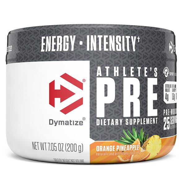 Athlete's Pre, Pré-treino, Laranja e Abacaxi, 7,05 oz (200 g)