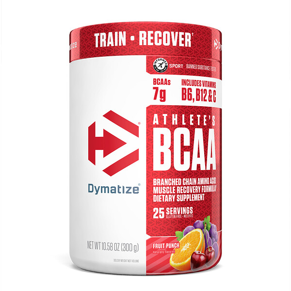 Dymatize Nutrition, Athlete's BCAA, Fruit Punch, 10.58 oz (300 g)