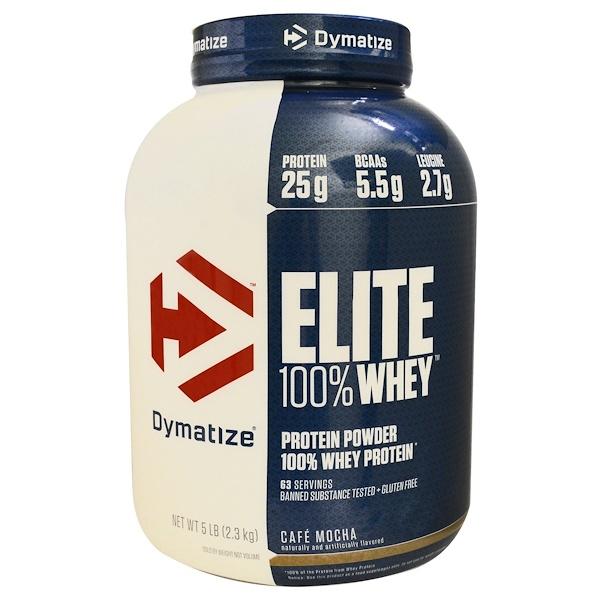 Dymatize Nutrition, Elite,100%乳清蛋白,摩卡味,5磅(2、27千克)