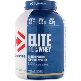 Dymatize Nutrition, Elite, 100% Whey Protein Powder, Vanilla Cupcake, 5 lbs (2.3 kg)
