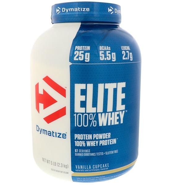 Dymatize Nutrition, Elite,100%乳清蛋白粉,香草蛋糕味,5磅(2、3千克)