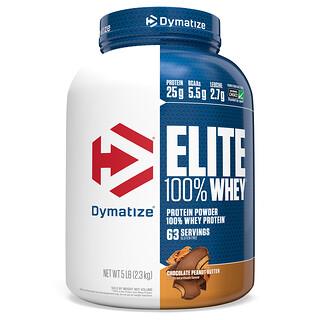 Dymatize Nutrition, Elite 全 乳清蛋白,巧克力花生醬味,5 磅(2.3 千克)