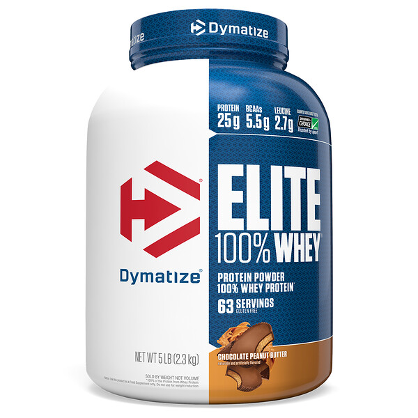 Elite 100% Whey Protein Powder, Chocolate Peanut Butter, 5 lb (2.3 kg)