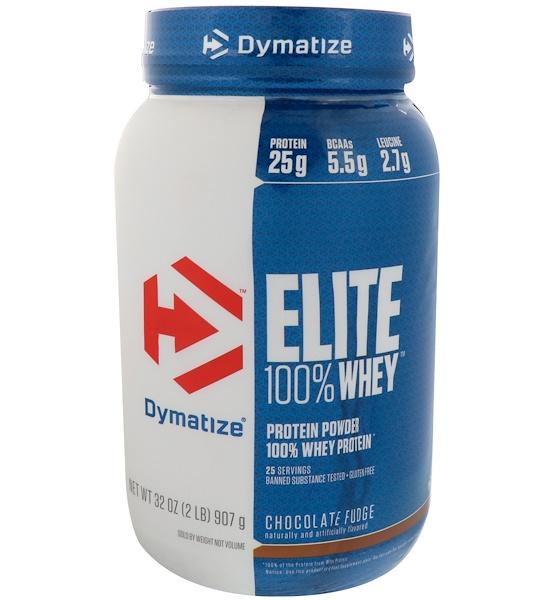 Dymatize Nutrition, Elite 100% Whey Protein Powder, Chocolate Fudge, 2 lbs (907 g)