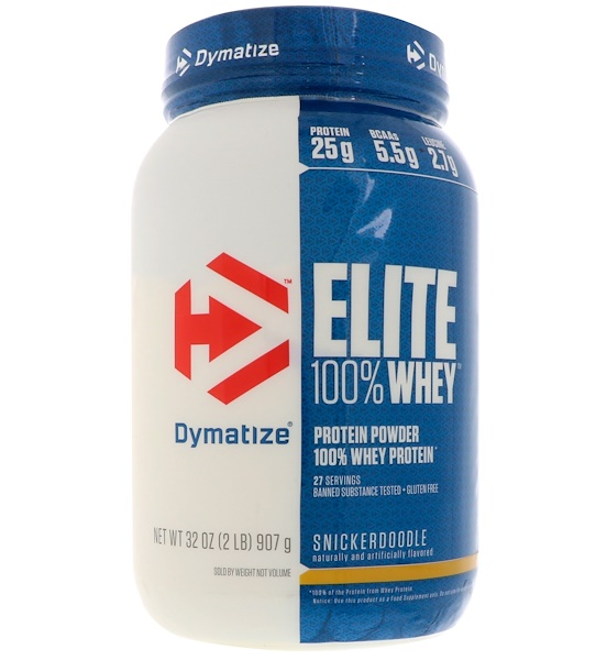 Dymatize Nutrition, Elite 100% Whey Protein, Snickerdoodle, 32 oz (907 g) (Discontinued Item)