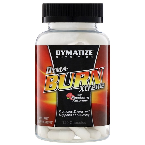 Dymatize Nutrition, Dyma-Burn Xtreme, with Raspberry Ketones, 120 Capsules (Discontinued Item)