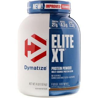 Dymatize Nutrition, Elite XT, Protein Powder, Fudge Brownie, 4 lb (1.8 kg)