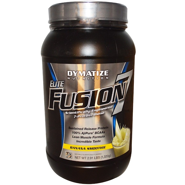 Dymatize Nutrition, Elite Fusion 7, Banana Smoothie, 2.91lbs (1,320 g) (Discontinued Item)