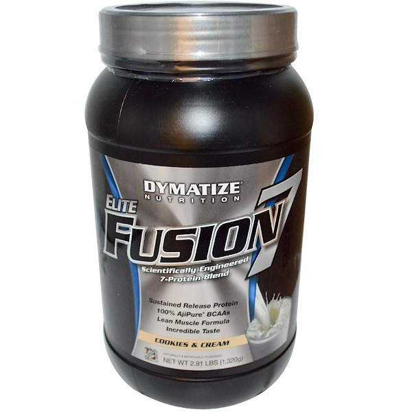 Dymatize Nutrition, Elite Fusion 7, Cookies & Cream, 2.91 lbs (1,320 g) (Discontinued Item)