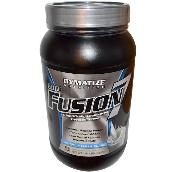 Dymatize Nutrition, Elite Fusion 7, Creamy Vanilla Shake, 2.91 lbs (1,320 g) (Discontinued Item)
