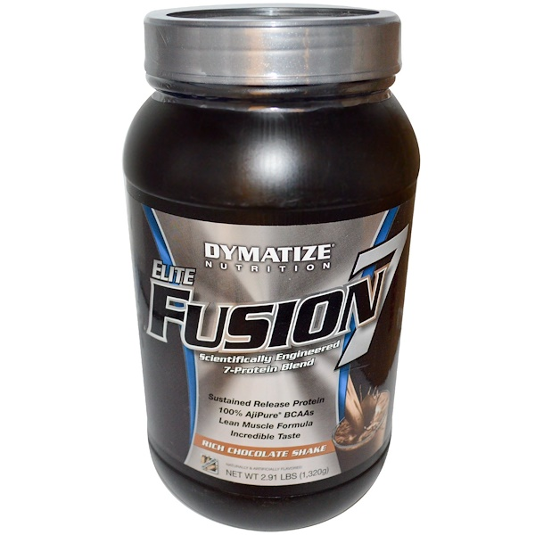 Dymatize Nutrition, Elite Fusion 7, Rich Chocolate Shake, 2.91 lbs (1,320 g) (Discontinued Item)