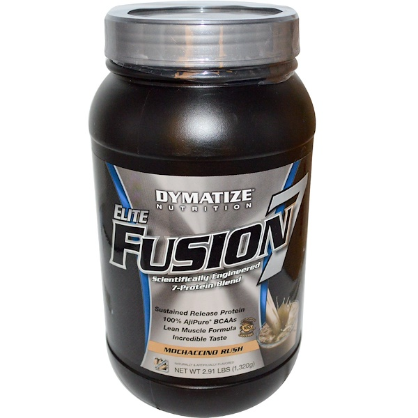 Dymatize Nutrition, Elite Fusion 7, Mochaccino Rush, 2.91 lbs (1,320 g) (Discontinued Item)