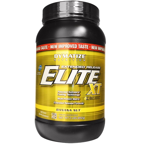 Dymatize Nutrition, Elite XT, Extended Release Multi-Protein Matrix, Banana Nut, 2 lbs (892 g) (Discontinued Item)