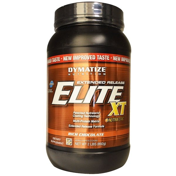 Dymatize Nutrition, Elite XT, Extended Release Muti-Protein Matrix, Rich Chocolate, 2 lbs (892 g) (Discontinued Item)