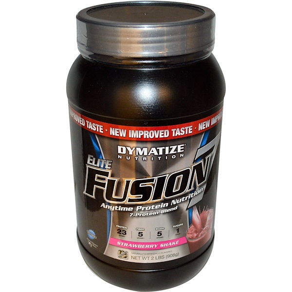 Dymatize Nutrition, Elite Fusion 7, Strawberry Shake, 2 lbs (908 g) (Discontinued Item)
