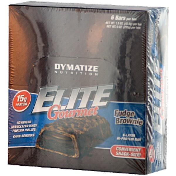 Dymatize Nutrition, Elite Gourmet, Fudge Brownie, 12 Bars,  3 oz (85 g) Each (Discontinued Item)