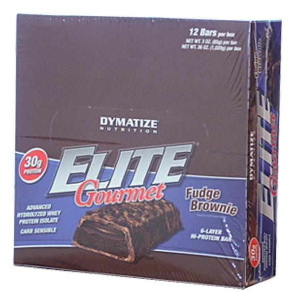 Dymatize Nutrition, Elite Gourmet, Fudge Brownie, 6 Bars, 1.5 oz (42.5 g) Each (Discontinued Item)