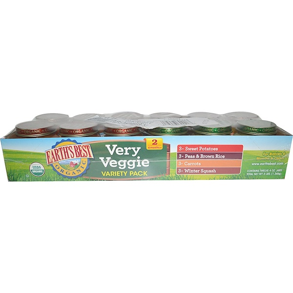 Earth's Best, Organic Very Veggie Variety Pack, 12 Jars, 4 oz (113 g) Each (Discontinued Item)