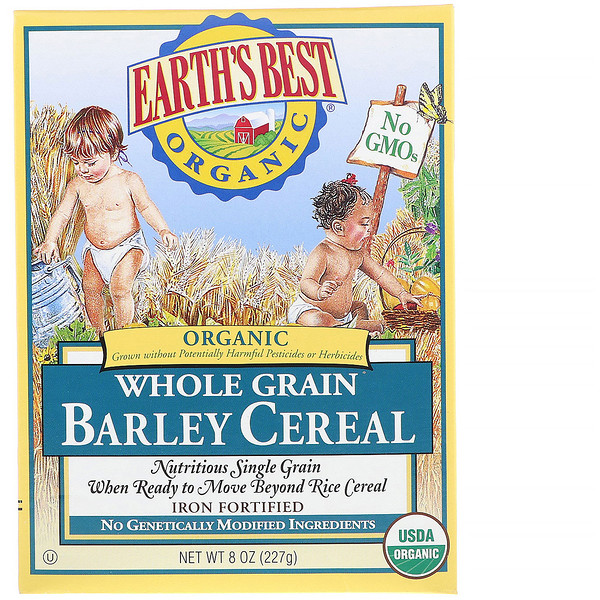 Earth's Best, Organic Whole Grain Barley Cereal, 8 oz (227 g)