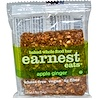 Earnest Eats, Baked Whole Food Bar, Apple Ginger, 1.9 oz (54 g) (Discontinued Item)