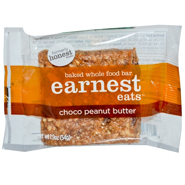 Earnest Eats, Baked Whole Food Bar, Choco Peanut Butter, 1.9 oz (54 g) (Discontinued Item)