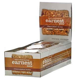 Earnest Eats, Baked Whole Food Bar, Choco Peanut Butter, 12 Bars, 1.9 oz (54 g) Each