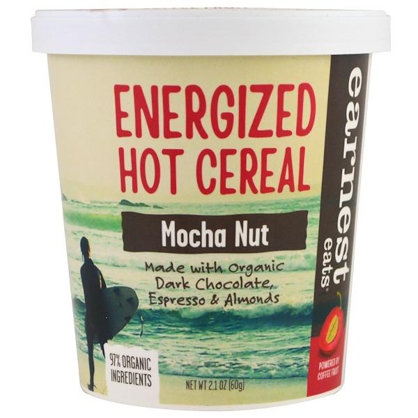 Earnest Eats, Заряженные энергией горячие хлопья, мокка и орехи, 2,1 унц. (60 г) (Discontinued Item)