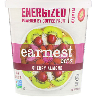 Earnest Eats, Energized Hot Cereal, Cherry Almond, 2.1 oz (60 g)