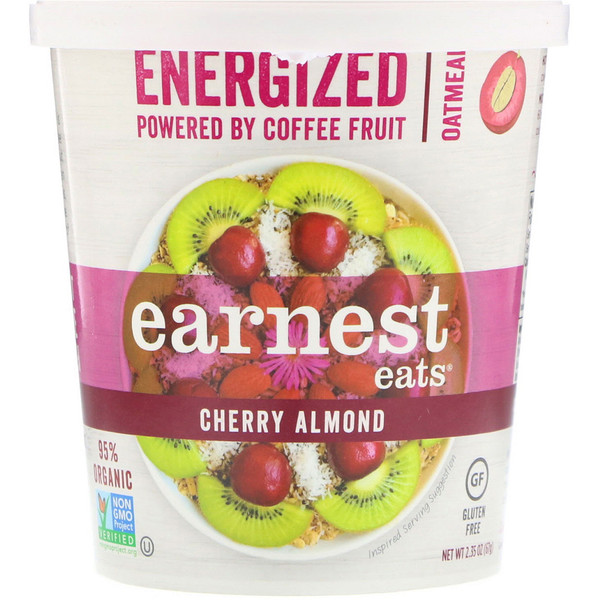 Earnest Eats, Energized Hot Cereal, Cherry Almond, 2.1 oz (60 g) (Discontinued Item)
