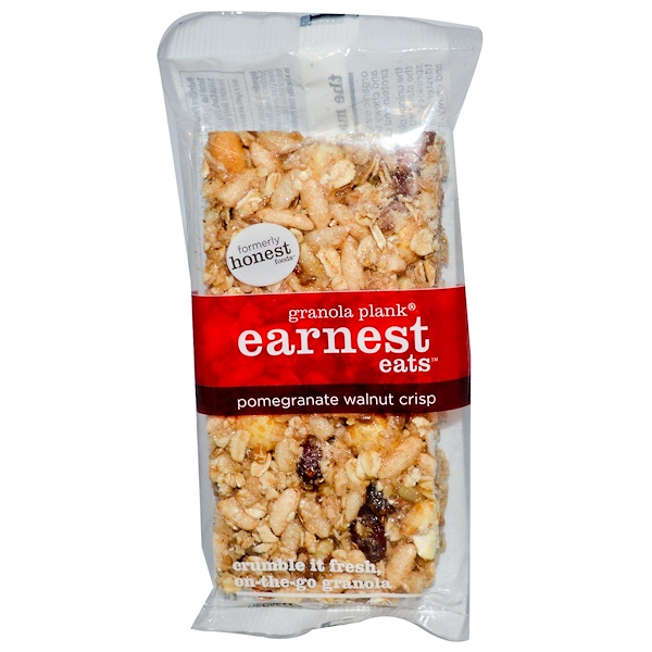 Earnest Eats, Granola Plank, Pomegranate Walnut Crisp, 3 oz (85 g) (Discontinued Item)
