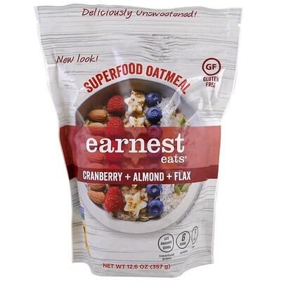 Earnest Eats 超級食物燕麥,蔓越莓+杏仁+亞麻籽,12.6盎司(357克)