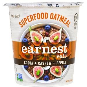 Ёрнест Итс, SuperFood Oatmeal Cup, Cocoa + Cashew + Pepita, Mayan Blend, 2.35 oz (67 g) отзывы покупателей