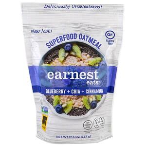 Earnest Eats, Суперфуд с овсянкой, Черника + чиа + корица, 12,6 унции (357 г)