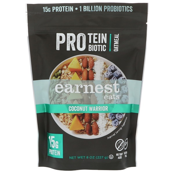 Protein Probiotic Oatmeal, Coconut Warrior, 8 oz (227 g)
