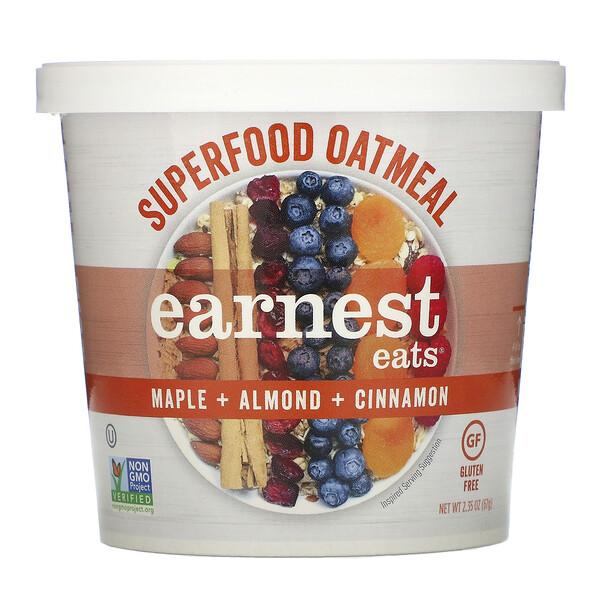 Superfood Oatmeal, Maple + Almond + Cinnamon, 2.35 oz (67 g)