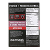Earnest Eats, Protein & Probiotic Instant Oatmeal, Apple Crush, 6 Packets, 8.47 oz (240 g)