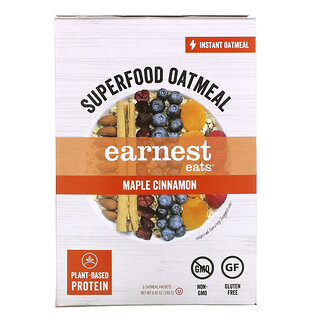 Earnest Eats, Superfood Instant Oatmeal, Maple Cinnamon, 6 Packets, 8.47 oz (240 g)