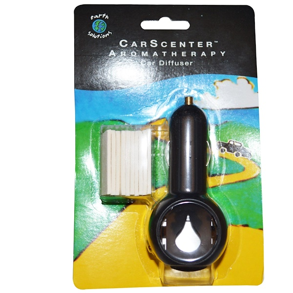 Earth Solutions, CarScenter, Aromatherapy Car Diffuser, 1 Diffuser, 10 Pads (Discontinued Item)