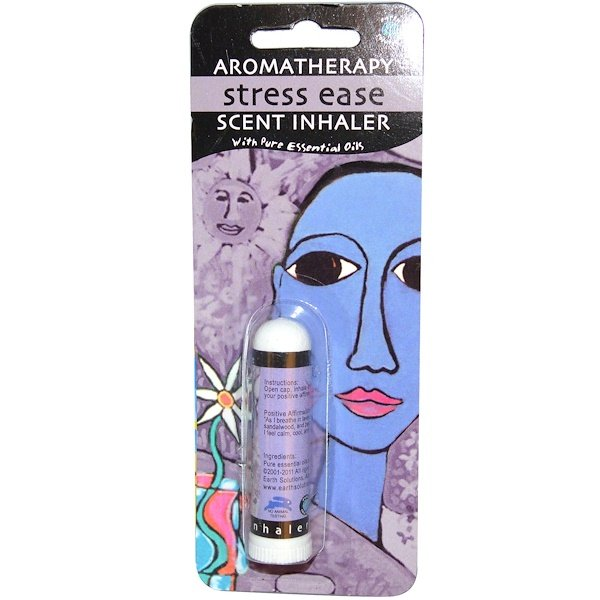 Earth Solutions, Aromatherapy, Scent Inhaler, Stress Ease, 1 Inhaler (Discontinued Item)