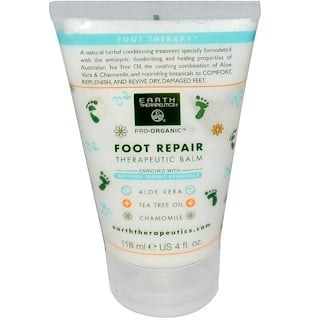 Earth Therapeutics, Basics, Foot Repair, Therapeutic Balm, 4 fl oz (118 ml)