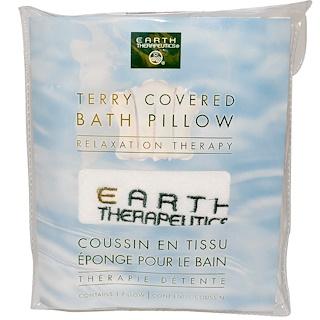 Earth Therapeutics, Mit Frottee bezogenes Badkissen, Entspannungstherapie, 1 Kissen