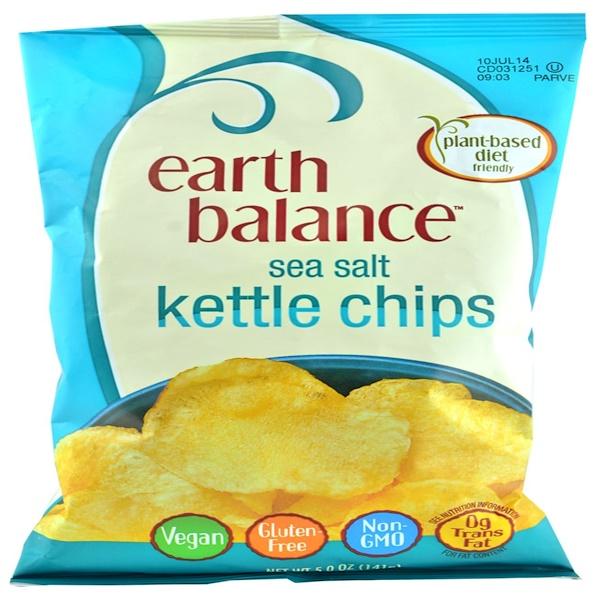 Earth Balance, Kettle Chips, Sea Salt, 5.0 oz (141 g) (Discontinued Item)
