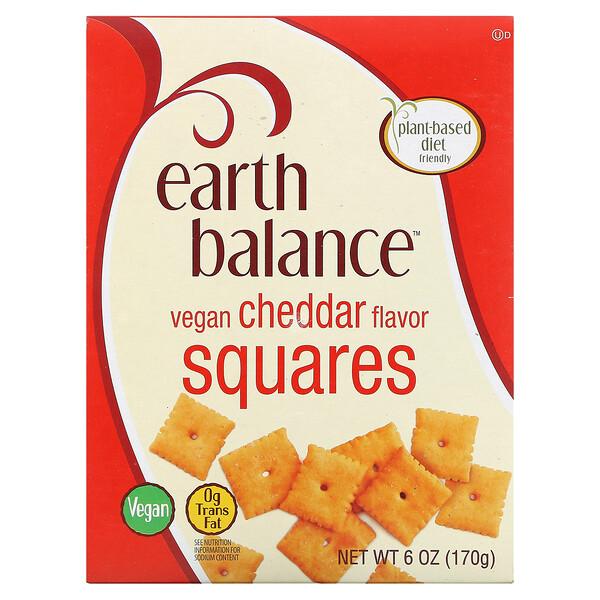 Earth Balance, Vegan Squares, Cheddar, 6 oz (170 g)