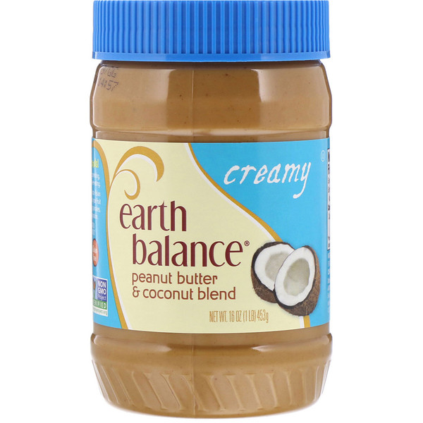 Earth Balance, Кокосово-арахисовая паста, сливочная, 16 унций (453 гр) (Discontinued Item)