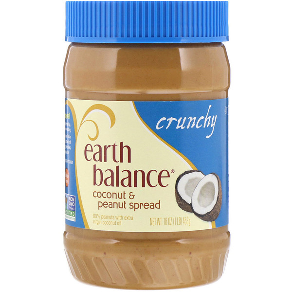 Earth Balance, Coconut & Peanut Spread, Crunchy, 16 oz (453 g) (Discontinued Item)