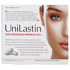 Erikson Bioscience, UniLastin, The European Wrinkle Pill, 60 Capsules