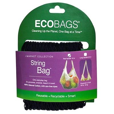 ECOBAGS Коллекция Market, сетчатая сумка, черная, 1 сумка