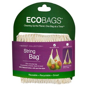 Экобэгс, Market Collection, String Bag, Tote Handle 10 in, Natural, 1 Bag отзывы покупателей