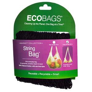 Экобэгс, Market Collection, String Bag, Long Handle 22 in, Black, 1 Bag отзывы покупателей