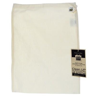 ECOBAGS Продуктовая сумка из органического хлопка, большая, 1 сумка, ширина 12 х высота 15